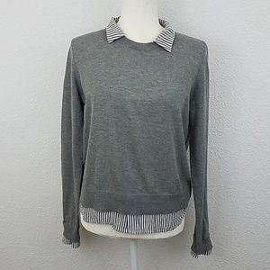 Gilli sweater sz MP medium petite gray pullover